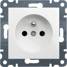 LUMINA2 2P+Z 230V 16A biały Gniazdo sieciowe
