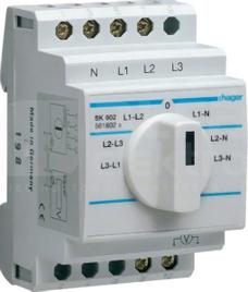 SK602 10A 400V Przełącznik woltomierza