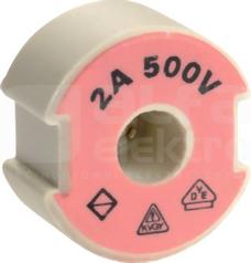 D SII/E27 500V 25A żółty Wkładka kalibrująca wkręcana