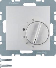 B.1/B.3/B.7 GLAS aluminium Regulator temp.pomieszczenia