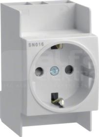 SN016 10/16A 250V kl.1 Gniazdo na szynę DIN