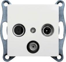 LUMINA2 biały Gniazdo RTV-SAT standard