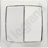 OTEO 2x biały Przycisk zwierny jednobiegunowy