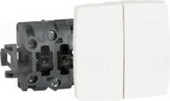 OTEO 2x biały Mechanizm przycisku zwiernego jednobiegunowy