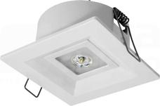 LOVATO P ECO LED 3W OTW.1h SE biały Oprawa awaryjna 1-zad.