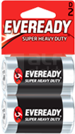EVEREADY SUPER HEAVY DUTY D R20 (2szt) Bateria