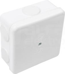 PON56-80x80 biały Puszka natynkowa pusta