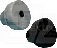 PDEL 20M czarny Przepust gumowy lekki