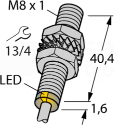 BI2-EG08-AP6X 2mm PNP NO M8 Czujnik indukcyjny
