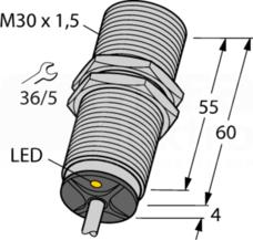 BI15-M30-AP6X 15mm PNP NO M30 Czujnik indukcyjny
