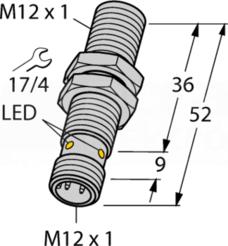 BI4-M12-AP6X-H1141 4mm PNP NO M12 Czujnik indukcyjny