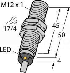 BI4-M12-AP6X 4mm PNP NO M12 Czujnik indukcyjny