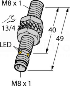 BI2-EG08-AP6X-V1131 2mm PNP NO M8 Czujnik indukcyjny