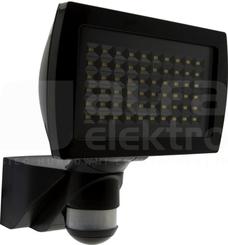 FL2N-LED-230 czarny Reflektor LED z czuj.ruchu