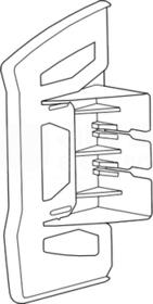 L44739010 końcówka GBD kanał biały 56x85