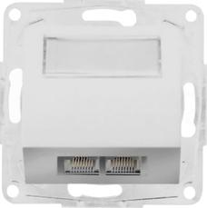 OPTIMA 2xRJ45 kat.5e UTP biały Gniazdo komputerowe