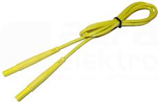 1,2m wtyk bananowy Przewód żółty