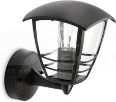 CREEK 1x60W E27 czarny Oprawa żarówkowa zewnętrzna ścienna