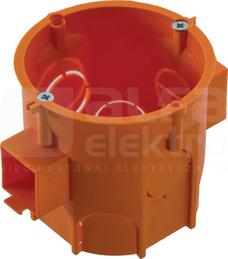 PK-60 LUX głęboka łączeniowa pomarańcz. Puszka inst.podt.z wkrętami