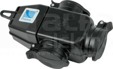 3x250V 16A IP44 czarny Rozgałęźnik