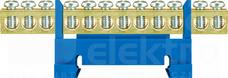 LZ 12/N niebieski 12x16mm2 Listwa zaciskowa niska