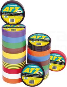 AT-7 19x0,13 33m 8-kolorów Taśma izolacyjna-zestaw
