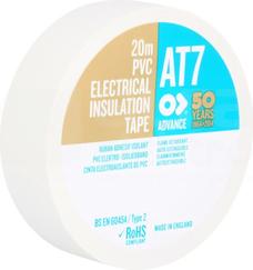 AT-7 19x0,13 20m biały Taśma izolacyjna