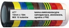 AT-7 15x0,13 10m 10-kolorów Taśma izolacyjna-zestaw
