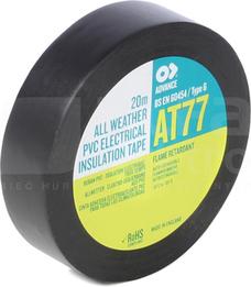 AT-77 19x0,19 20m czarny Taśma izolacyjna t.warunki