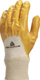 NI015 biało-żółty 10 Rękawice nitryl/dżersej