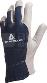 CT402 naturalno-niebieski 9 Rękawice skóra/bawełna