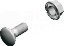 SGK M6x12 (100szt) Śruba grzybk+nakrętka ząbk.