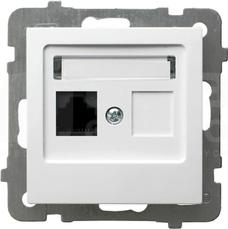 AS kat.5e biały Gniazdo komputerowe pojedyncze