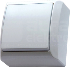 BIS 10AX IP20 biały Łącznik jednobiegunowy