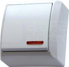 BIS 10AX IP20 biały Łącznik jednobiegunowy podświetlany