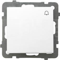 AS 10AX IP20 biały Przycisk zwierny dzwonek
