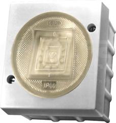 LAMBDA 6AX IP44 biały Łącznik zwierny światło