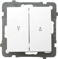 AS 10AX IP20 biały Łącznik żaluzjowy