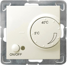 IMPRESJA ecru Regulator temperatury z czujnikiem podpodłog.