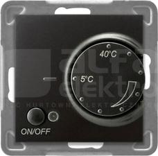 IMPRESJA antracyt Regulator temperatury z czujnikiem napow.