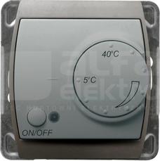 GAZELA srebro/tytan Regulator temperatury z czujnikiem podpodłog.