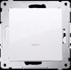 SIMON54 10AX biały Łącznik jednobiegunowy podświetlany LED