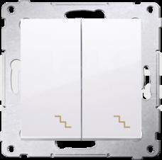 SIMON54 10AX biały Łącznik schodowy podwójny