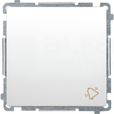 BASIC/M biały Przycisk zwierny dzwonek