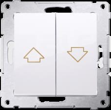 SIMON54 10AX biały Przycisk żaluzjowy szybkozłącze