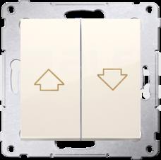SIMON54 10AX kremowy Przycisk żaluzjowy szybkozłącze