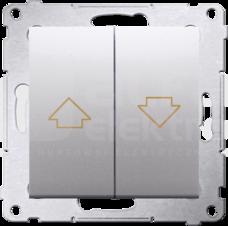 SIMON54 10AX srebrny mat Przycisk żaluzjowy szybkozłącze