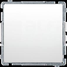 BASIC/M biały Przycisk pojedynczy zwierny