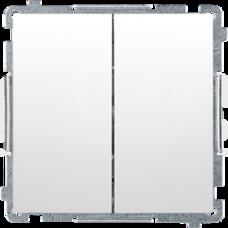 BASIC/M biały Przycisk podwójny dwuobwodowy