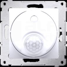 SIMON54 8(2)A biały Łącznik z czujnikiem ruchu z przekaźnikiem+zab